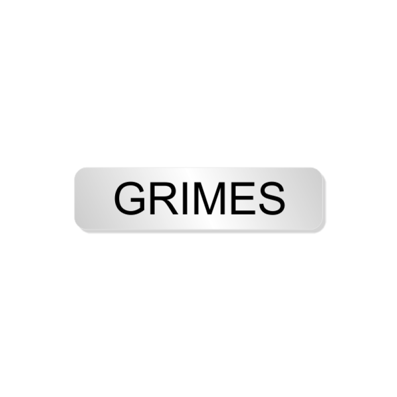 Grimes Officer Costume Name Tag