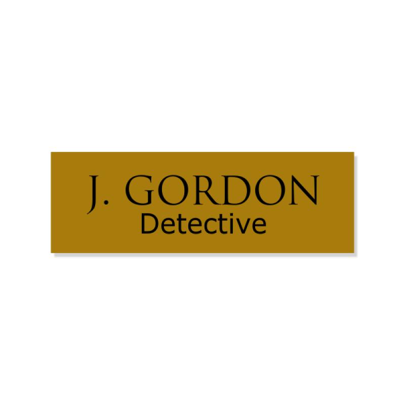 J. Gordon Halloween Costume Name Badge