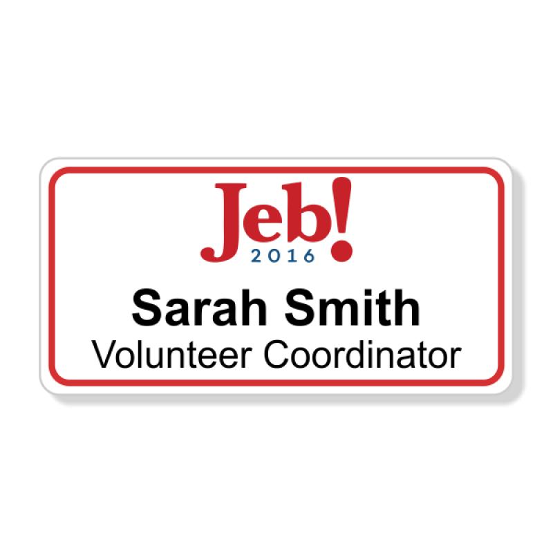 Jeb Bush Presidential Name Badge