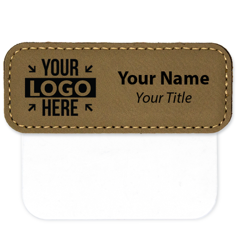 "Leatherette Pocket Badge - 1"" x 3"""