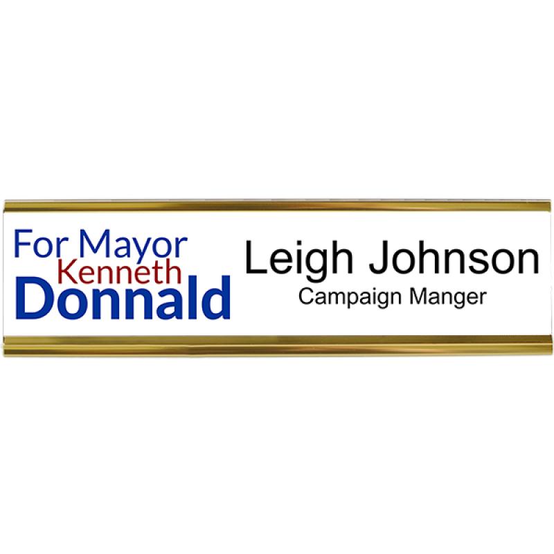 Left Logo Local Elections Campaign Desk Plate