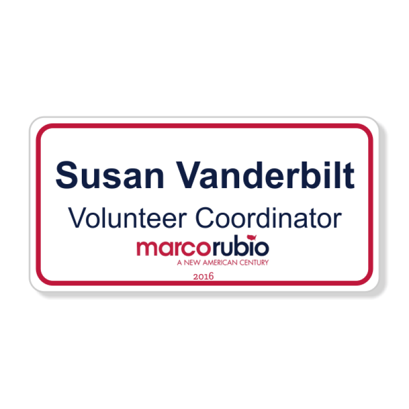 Marco Rubio Presidential Name Badge