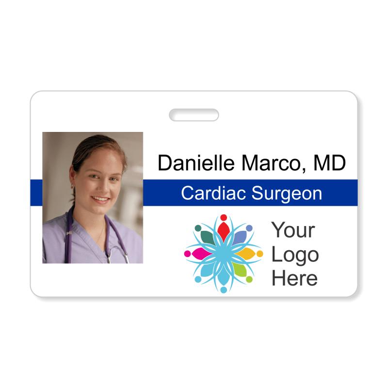 Medical Horizontal Photo ID Badge