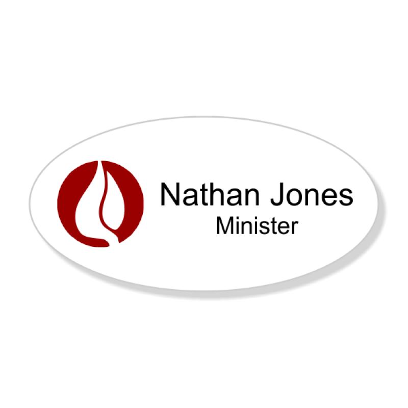 Pentecostal Full Color Name Tag - Oval