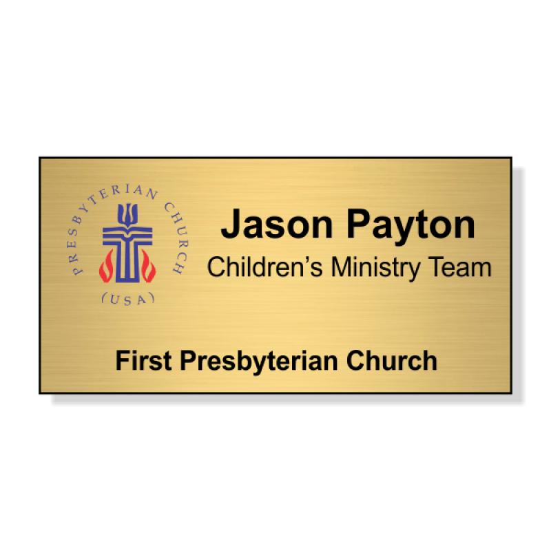 Small Presbyterian Church Name Badge
