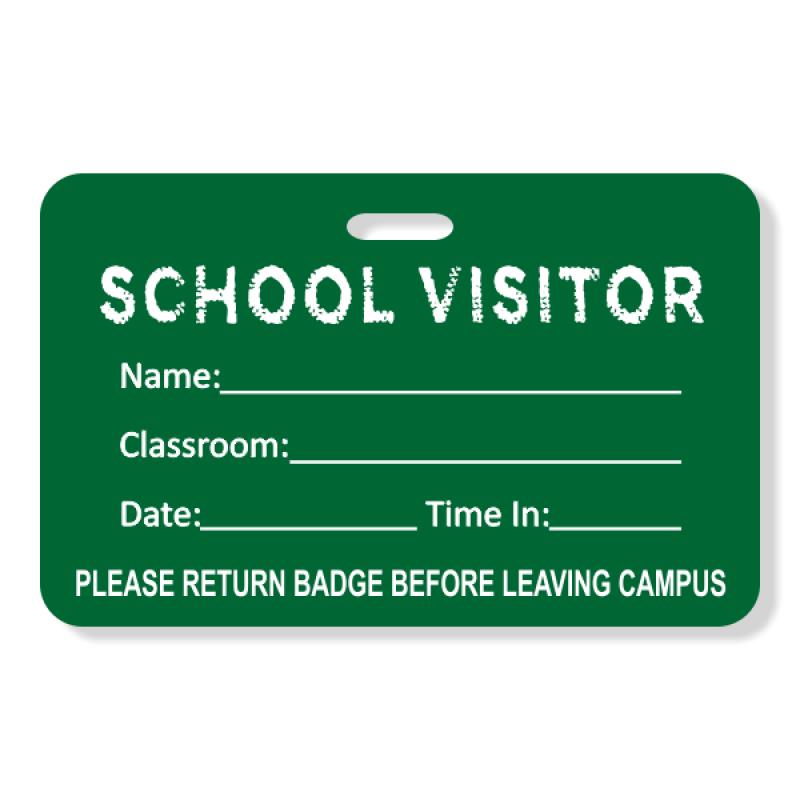 School Chalkboard Visitor Badge