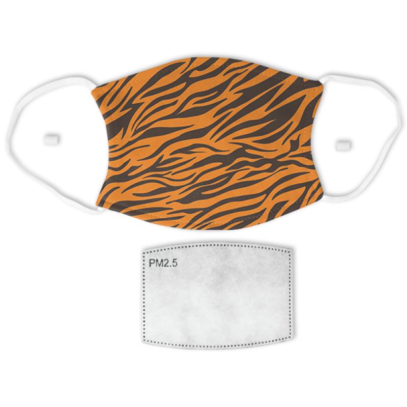 Tiger Stripes Print Adult Face Mask