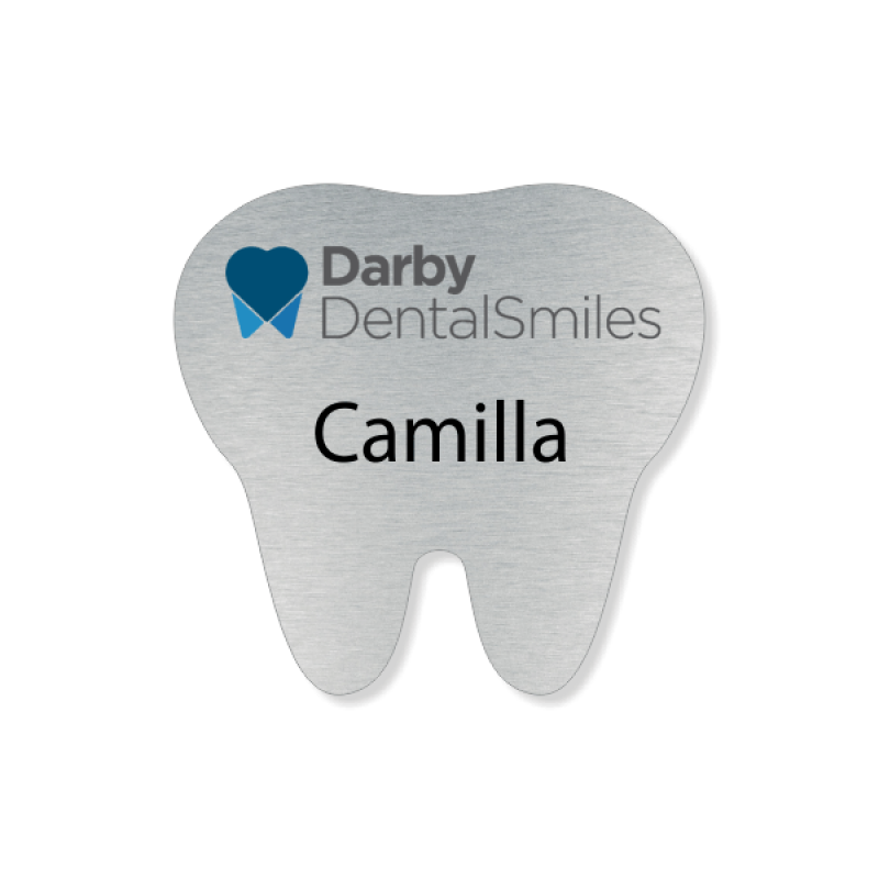 Tooth Shaped Name Badge