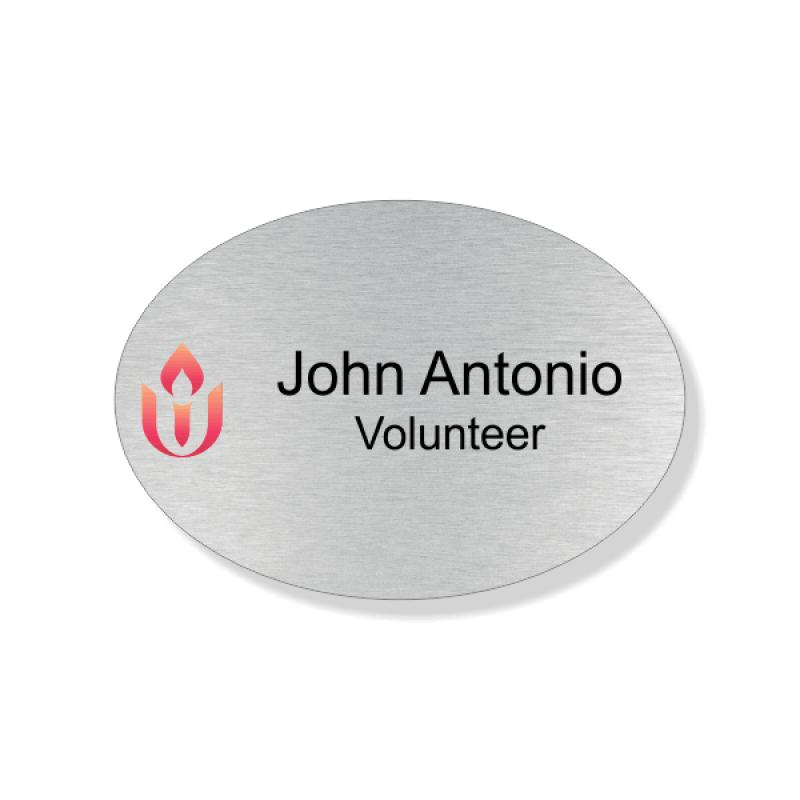 Unitarian Full Color Name Tag - Oval