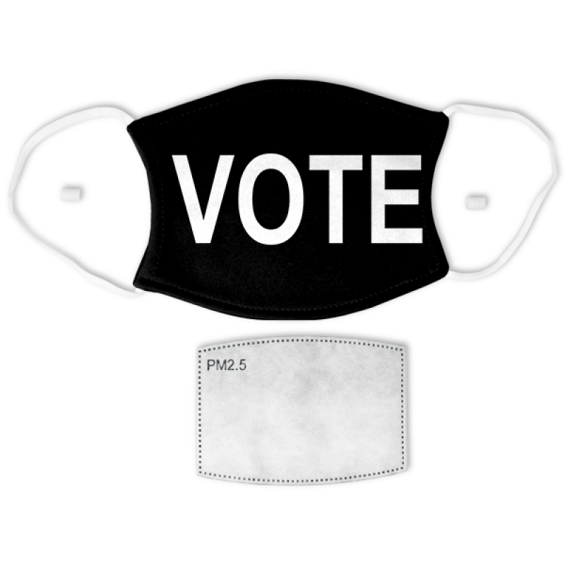 """Black """"VOTE"""" Adult Size Face Mask"""