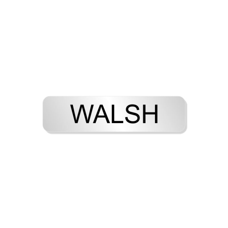 Walsh Officer Costume Name Tag