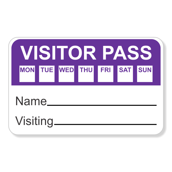 Day Selection Visitor Badge