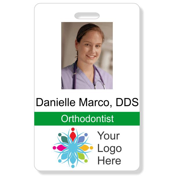 Dental Vertical Photo ID Badge