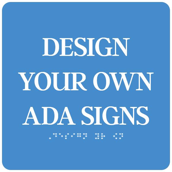 """ADA Sign Square 6"""" x 6"""""""