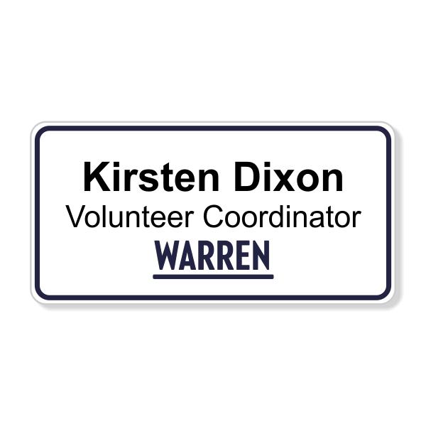 Elizabeth Warren Presidential Campaign Name Tag