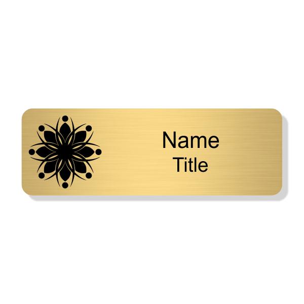 Engraved Gold Economy Name Tag