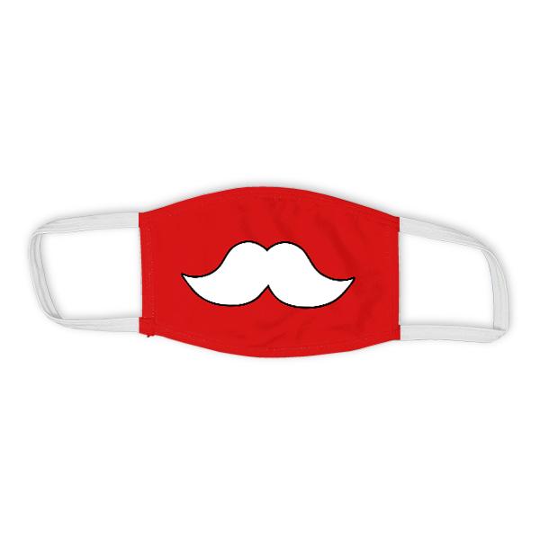 Holiday Santa Moustache Child Face Mask