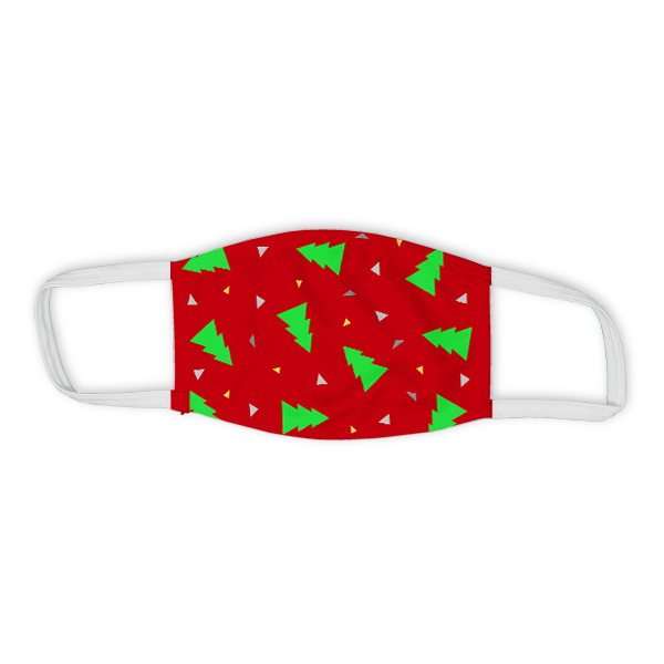 Holiday Triangle Tree Pattern Child Face Mask