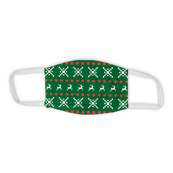 Holiday Ugly Sweater Pattern Child Face Mask