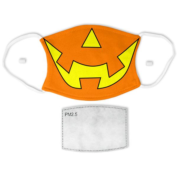 Adult Jack-O-Lantern Halloween Face Mask