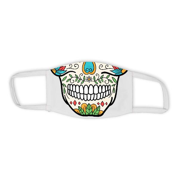 Child Sugar Skull Halloween Face Mask