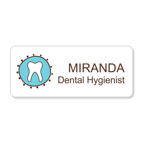Fancy Tooth Dentist Name Tag