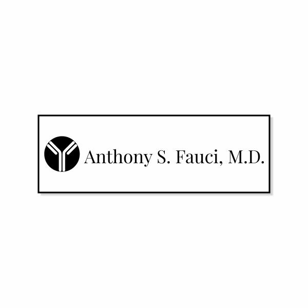 Dr. Fauci Halloween Name Tag