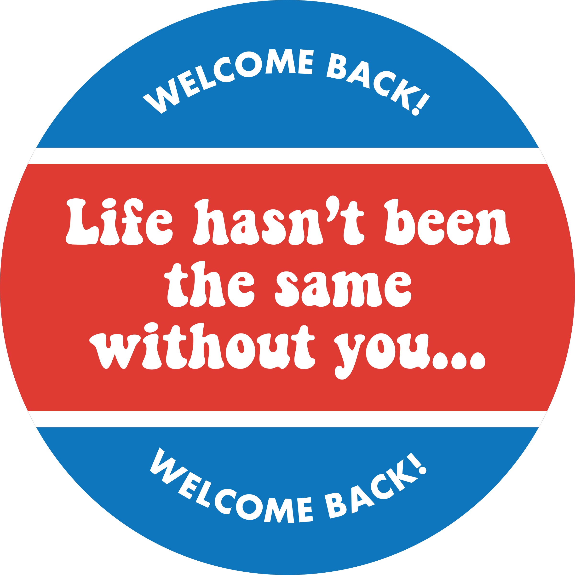 Life Hasn't Been the Same Without You Business Reopening Floor Decal