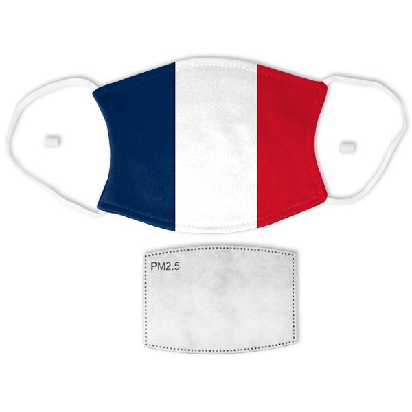 Flag of France Adult Size Face Mask