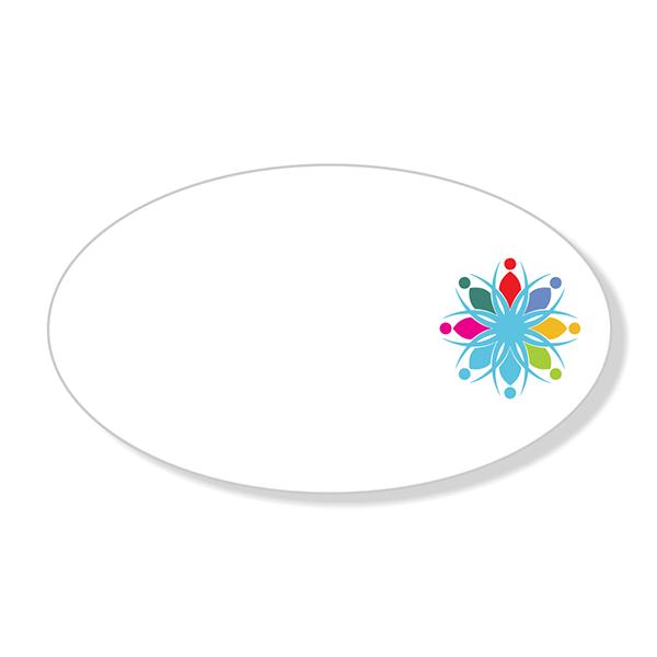 Full Color Logo Oval Economy Name Tag