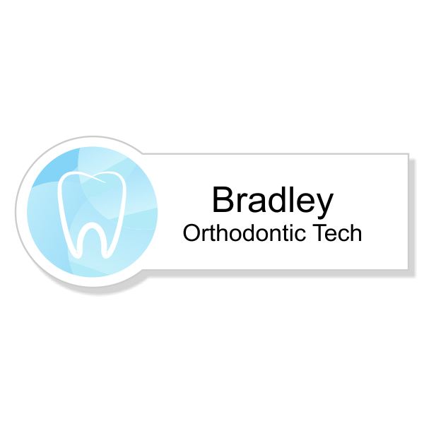 Gradient Tooth Orthodontist Dentist Name Tag