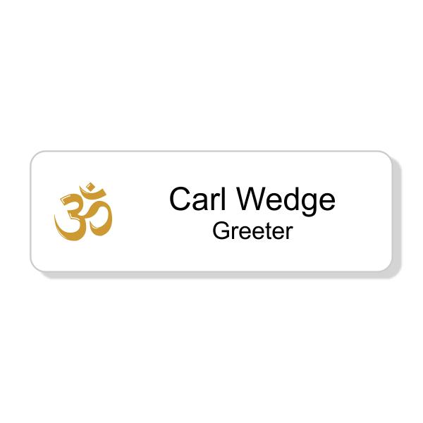 Hindu Faith Full Color Name Tag - Rectangle
