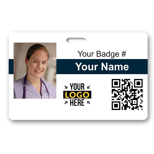 Horizontal Photo ID Card with QR Code