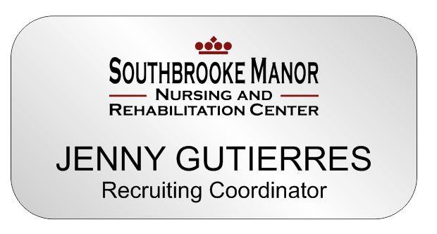K&L Southbrooke Manor Name Badge