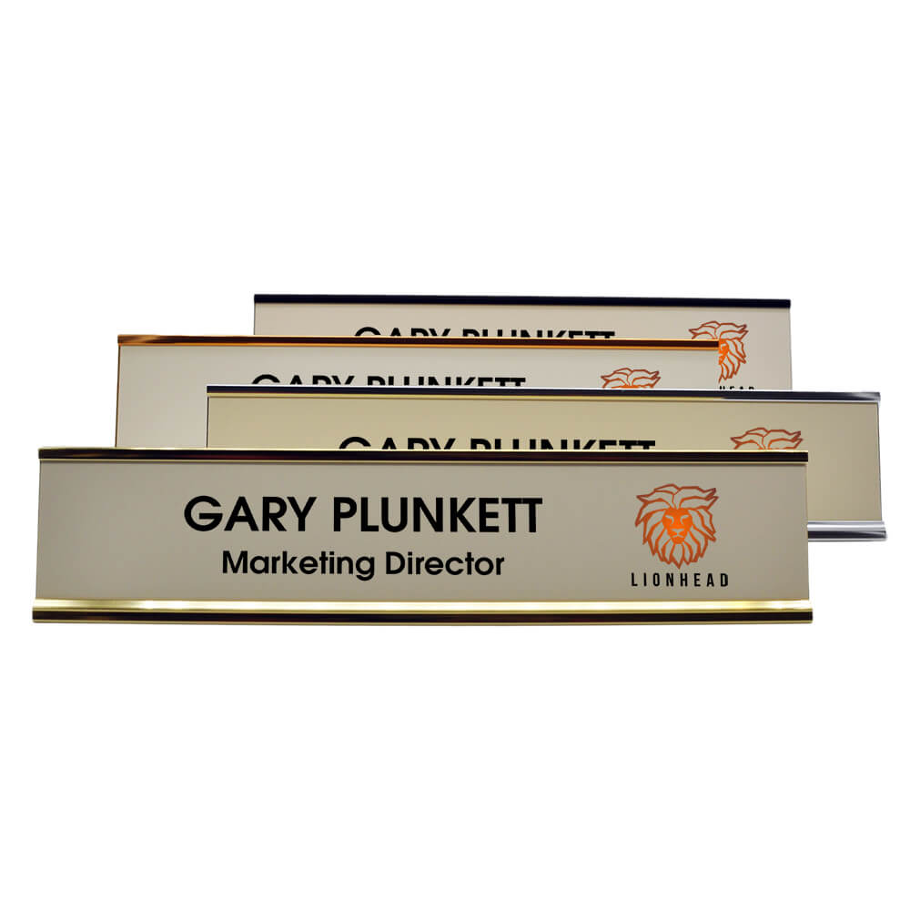 Full Color Desk Plate with Logo