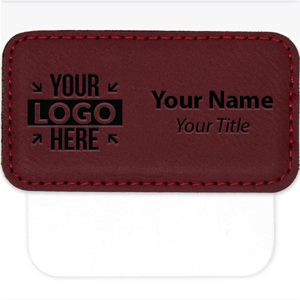 "Leatherette Pocket Badge - 1.5"" x 3"""