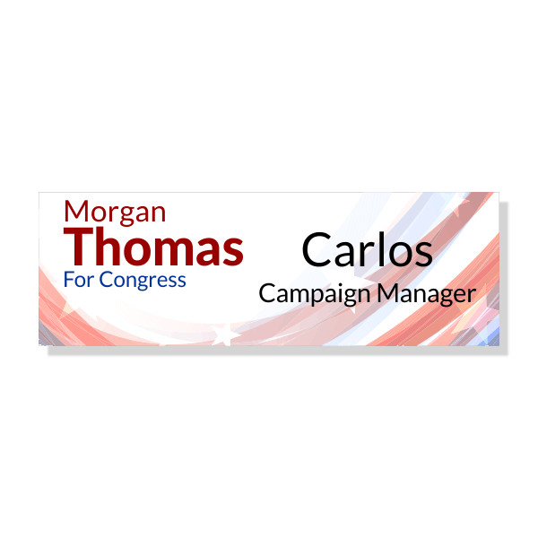 Left Logo Local Election Campaign Name Tag