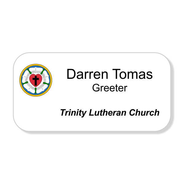 Lutheran Full Color Name Tag - Large Rectangle