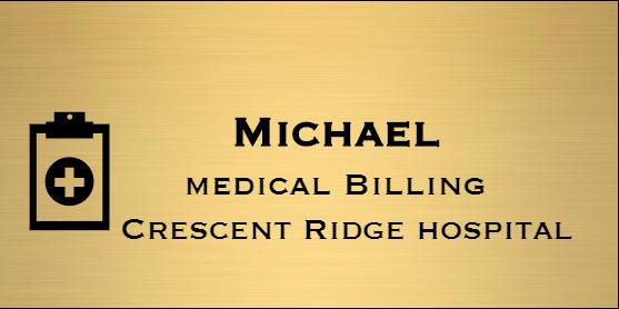 Medical Billing Rectangle Name Badge