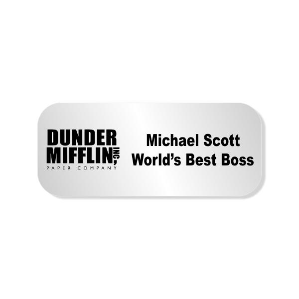 Michael Scott Dunder Mifflin Costume Name Tag