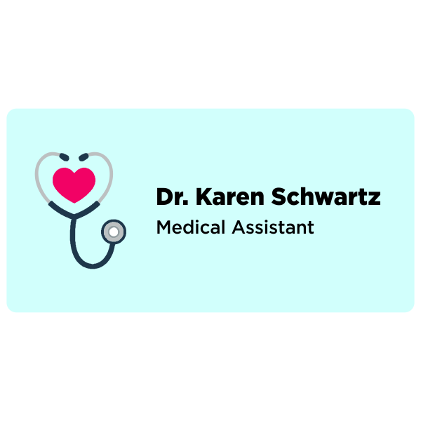 Medical Name Tag with Heart
