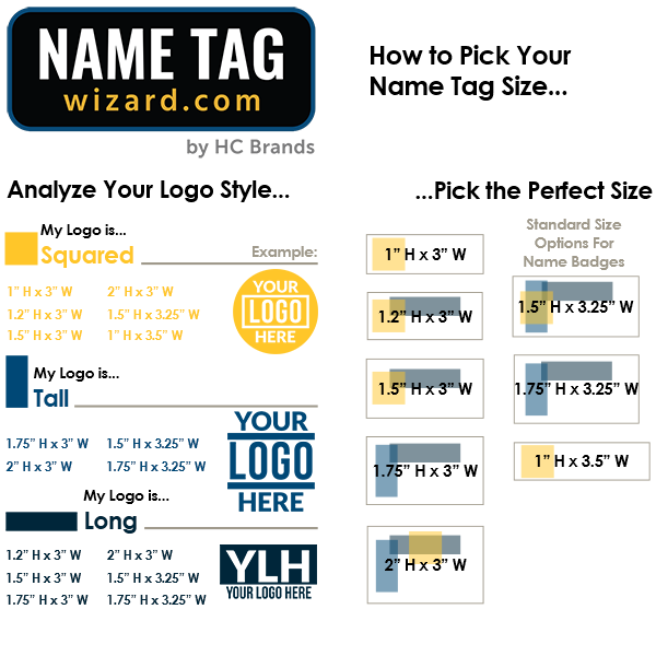 How to pick you name tag size