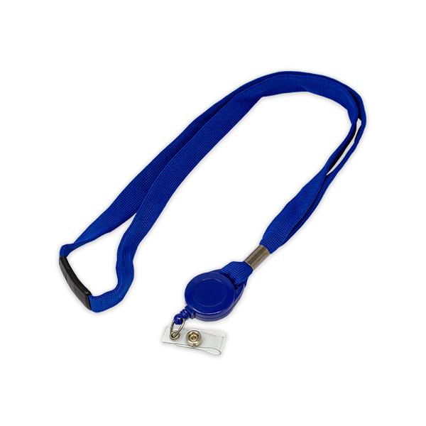 Blue Lanyard with Badge Reel