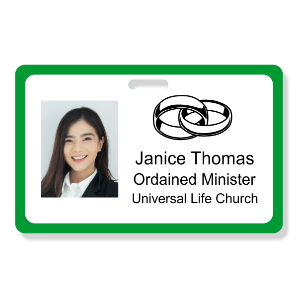 Ordained Minister Name Badge - Horizontal