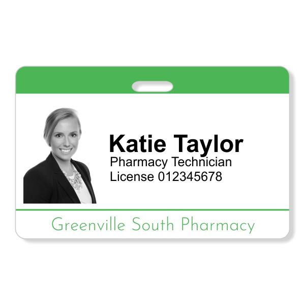 Pharmacy Photo ID Badge | Horizontal