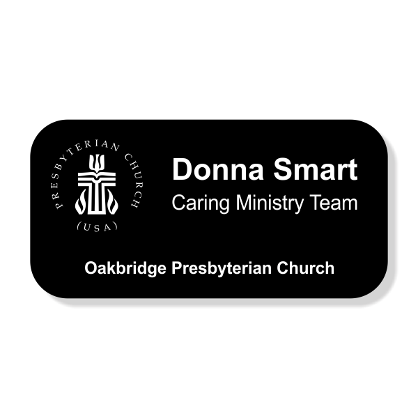 Presbyterian Engraved  Name Tag - Large Rectangle