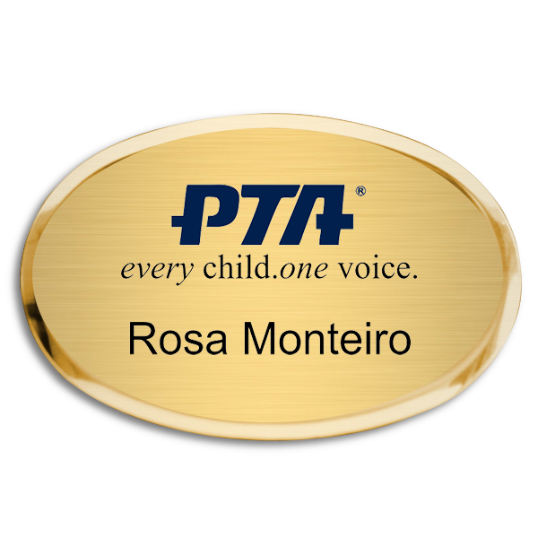 PTA Fancy Oval Name Tag