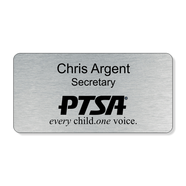 PTSA Logo Bottom Large Engraved Name Tag