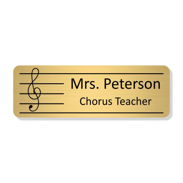 Sheet Music Teacher School Name Tag