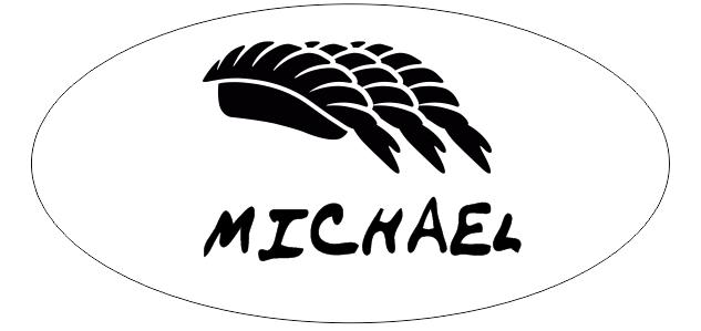 Oval 1 Line Sushi Restaurant Name Badge B